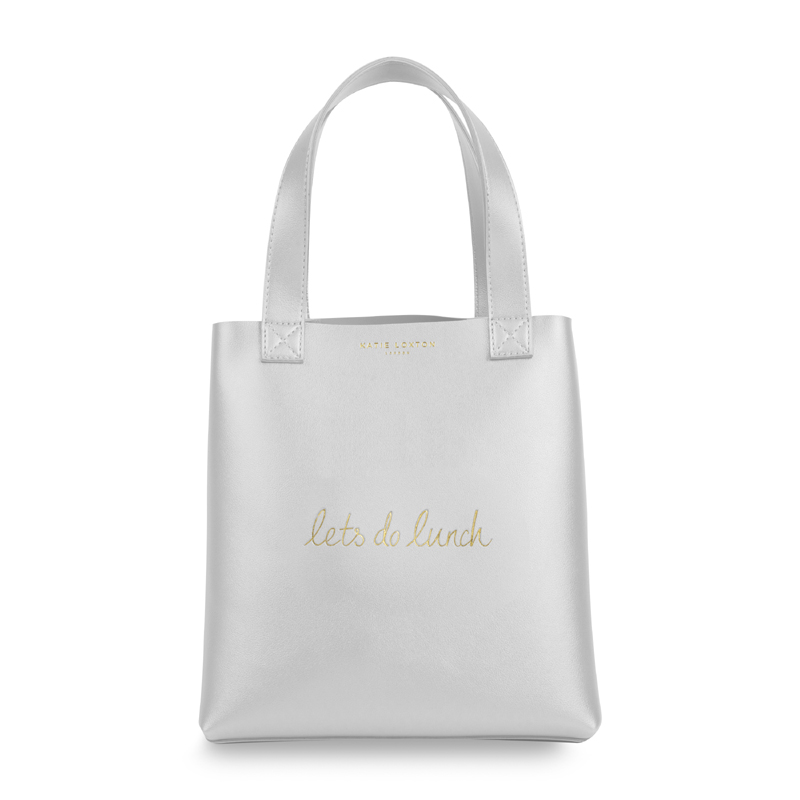 fa4ba5665 LUXURY LUNCH BAG - LETS DO LUNCH - Sølv metallic - Katie Loxton ...