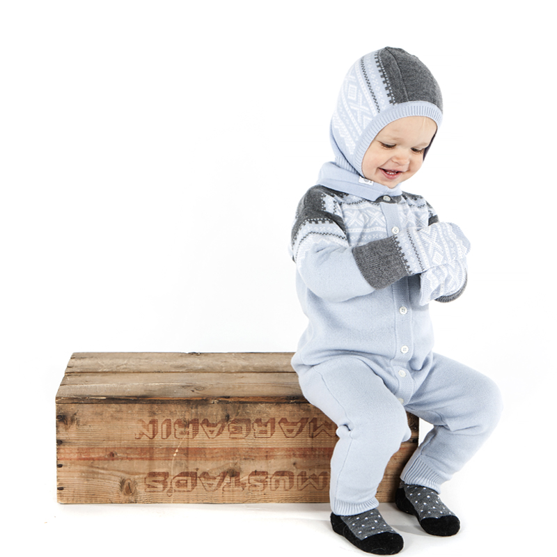 4465afc6 Lue Balaclava Ull Marius Lys blå barn - Marius Kids - Recreo.no ...