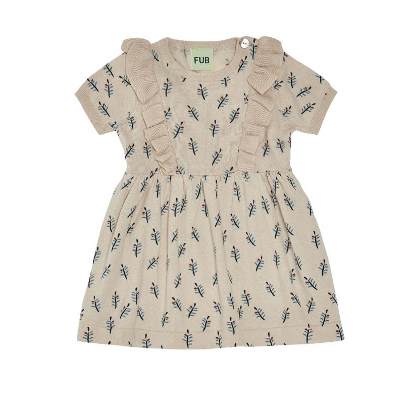 Kjole med bladmønster